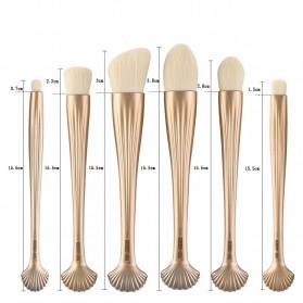 Shell Brush Make Up Pro 6 Set - Golden - 8