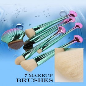 Shell Brush Make Up 7 Set - Green - 3