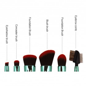 Shell Brush Make Up 7 Set - Green - 4