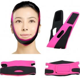 MAANGE Sabuk Penirus Wajah Face Lift Anti Wrinkle Belt - TZ18 - Black/Pink - 1