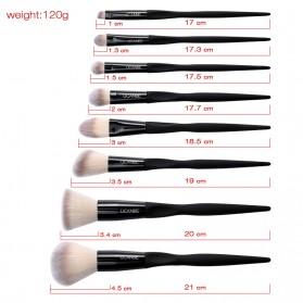 UCANBE Brush Make Up 8 Set - Black - 2