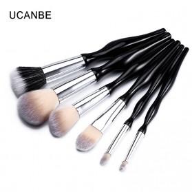 UCANBE Brush Make Up 6 Set - Black - 7