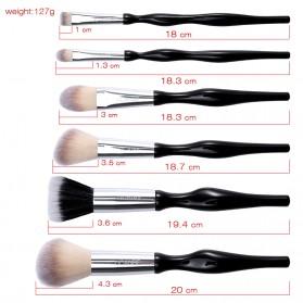 UCANBE Brush Make Up 6 Set - Black - 8