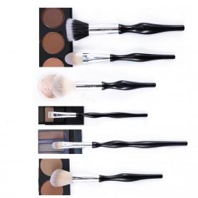 UCANBE Brush Make Up 6 Set - Black - 9