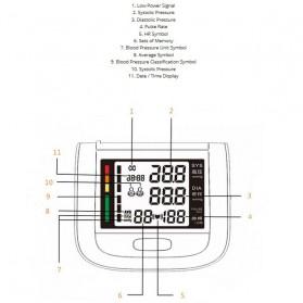 Pengukur Tekanan Darah Electronic Sphygmomanometer - Gray - 4