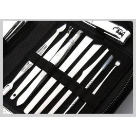DIOLAN Set Perlengkapan Manicure Pedicure 15 PCS - ATE-3061 - Silver - 2