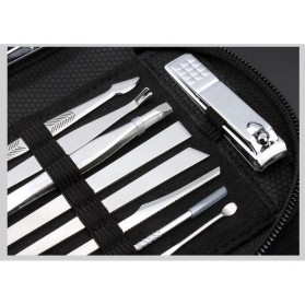 DIOLAN Set Perlengkapan Manicure Pedicure 15 PCS - ATE-3061 - Silver - 3