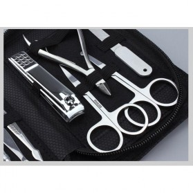 DIOLAN Set Perlengkapan Manicure Pedicure 15 PCS - ATE-3061 - Silver - 4