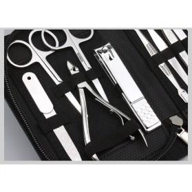 DIOLAN Set Perlengkapan Manicure Pedicure 15 PCS - ATE-3061 - Silver - 5