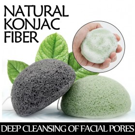 Konjac Sponge Pembersih Muka Exfoliator Facial Care Cleanse - Black - 2