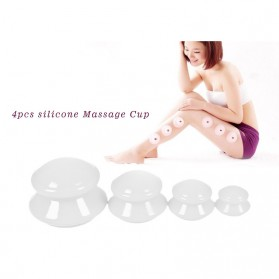 Chinese Vacuum Cupping Cup Anti Selulit 4 PCS - White