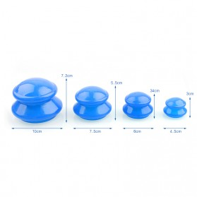 Chinese Vacuum Cupping Cup Anti Selulit 4 PCS - White - 3