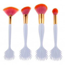 Mermaid Brush Make Up 4 Set - Orange