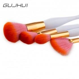 Mermaid Brush Make Up 4 Set - Orange - 3