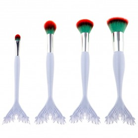 Mermaid Brush Make Up 4 Set - Red