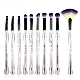 Mermaid Brush Make Up 10 Set - Purple