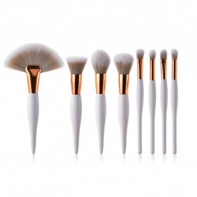 Maquiagem Brush Make Up 8 Set - T-08-050 - White/Gold