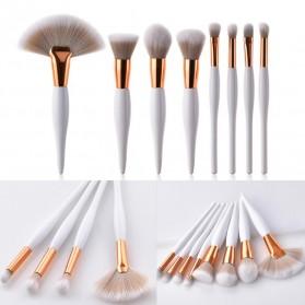 Maquiagem Brush Make Up 8 Set - T-08-050 - White/Gold - 2