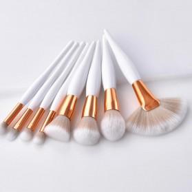 Maquiagem Brush Make Up 8 Set - T-08-050 - White/Gold - 4
