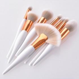 Maquiagem Brush Make Up 8 Set - T-08-050 - White/Gold - 5