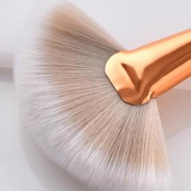 Maquiagem Brush Make Up 8 Set - T-08-050 - White/Gold - 8