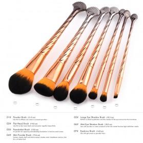 Gold Shell Brush Make Up 7 Set - Yellow - 2