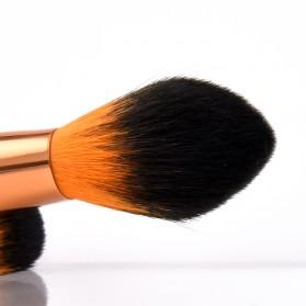 Gold Shell Brush Make Up 7 Set - Yellow - 4