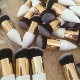Mushroom Head Brush Make Up Blush On Foundation - White/Gold - 4