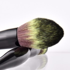 Soft Synthetic Brush Make Up 2 Set - Black - 4