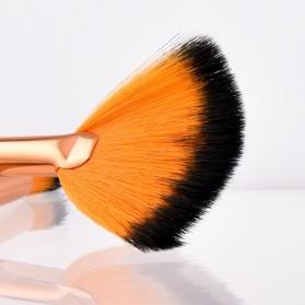 Gold Shell Brush Make Up 5 Set - Yellow - 4
