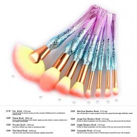 Mermaid Brush Make Up 8 Set - Pink - 2