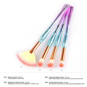 Mermaid Kosmetik Brush Make Up 4 Set - Pink - 2