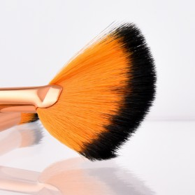 Gold Shell Brush Make Up 10 Set - Yellow - 3