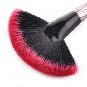 Gradient Handle Brush Make Up 10 Set - Red - 7