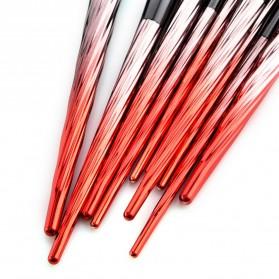 Gradient Handle Brush Make Up 10 Set - Red - 8