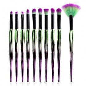 Brush Makeup - Artistic Brush Make Up 10 Set - Green