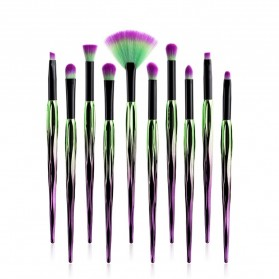 Artistic Brush Make Up 10 Set - Green - 3