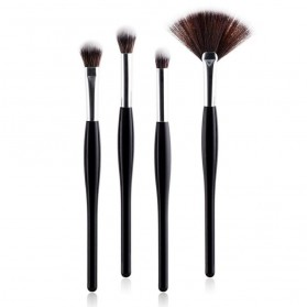 Professional Kosmetik Brush Make Up 4 Set - Black