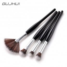 Professional Kosmetik Brush Make Up 4 Set - Black - 3
