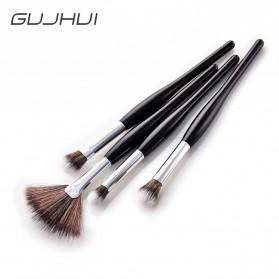 Professional Kosmetik Brush Make Up 4 Set - Black - 4