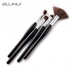 Professional Kosmetik Brush Make Up 4 Set - Black - 5