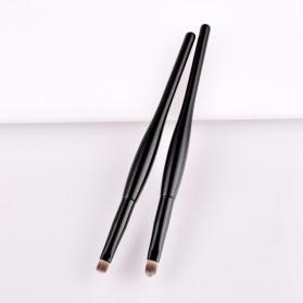 Soft Synthetic Kosmetik Brush Make Up 2 Set - Black/Brown - 2