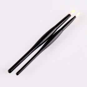 Soft Synthetic Kosmetik Brush Make Up 2 Set - Black/Brown - 3