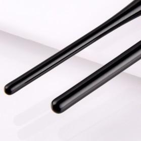 Soft Synthetic Kosmetik Brush Make Up 2 Set - Black/Brown - 4