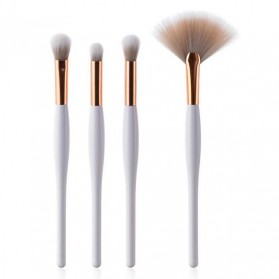 Maquiagem Brush Make Up 4 Set - White/Gold