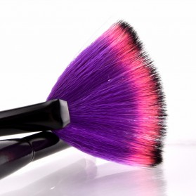 Big Fan Shape Brush Make Up 2 Set - AWK-555 - Purple - 5