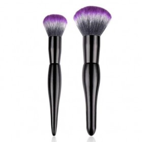 Professional Mushroom Brush Make Up 2 Set - Purple