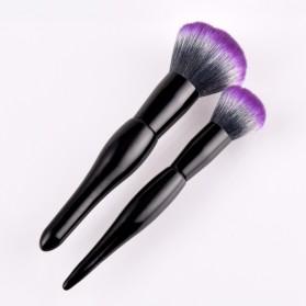 Professional Mushroom Brush Make Up 2 Set - Purple - 2