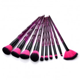 Aksesoris Makeup - Anmor Diamond Brush Make Up 10 Set - AWK-566 - Purple