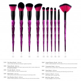 Anmor Diamond Brush Make Up 10 Set - AWK-566 - Purple - 2